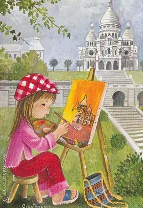 Children illustrations by Constanza | Cartoon pics, Paris ...