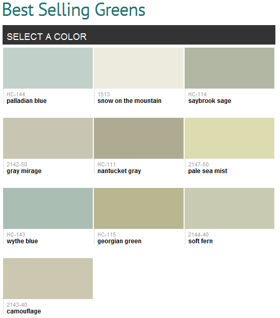 Best Selling Colors Benjamin Moore Green Paint Colors Palladian Blue Bedroom Paint Colors