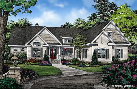 Home Plan The Forest Grove By Donald A Gardner Architects Craftsman Style House Plans Craftsman House Plans Ranch Style House Plans