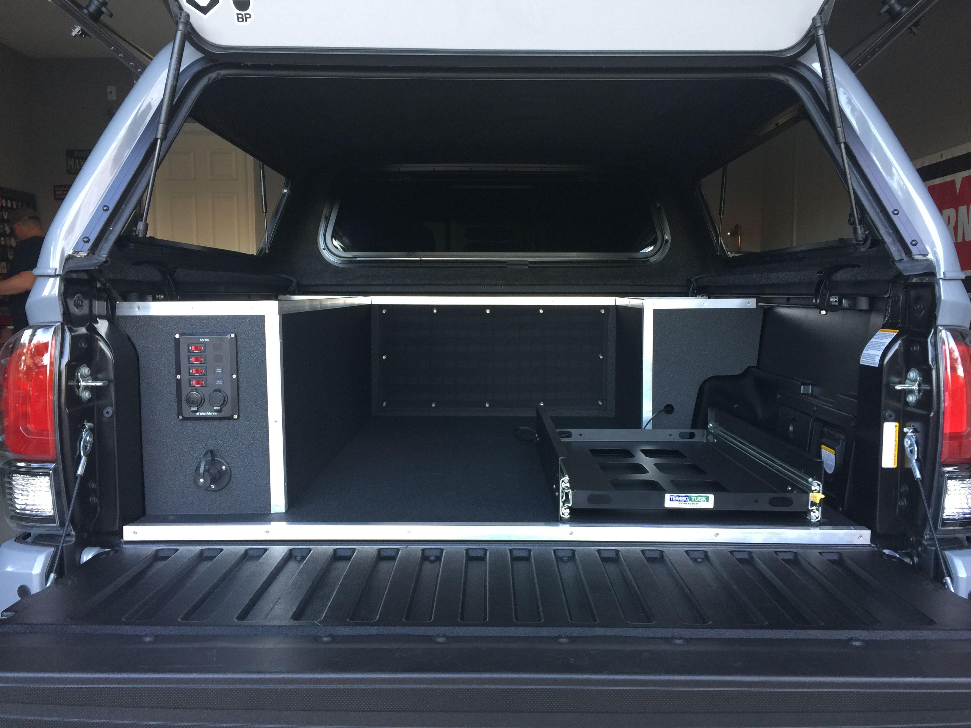 2017 Toyota TRD PRO custom truck bed storage