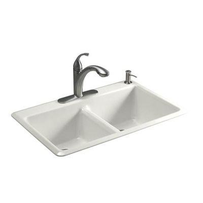 kohler white enamel kitchen sink double - Google Search | North ...