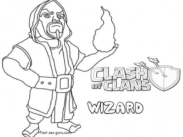 Free Printable Clash Of Clans Wizard Tower Coloring Pages For Kidsfree Online Print Out Clashofclans Sheets Kidshow To