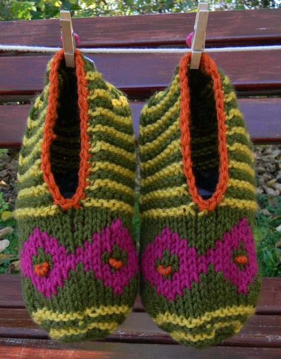 Ready To Ship Hand Knitted Slipper Socks Knit Adult Slippers