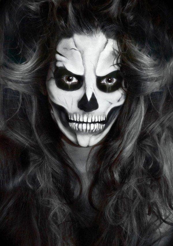 Halloween Schminke Bilder.30 Cool Halloween Makeup Ideas For Women Flawssy Halloween Makeup Halloween Skeleton Makeup Face Painting Halloween