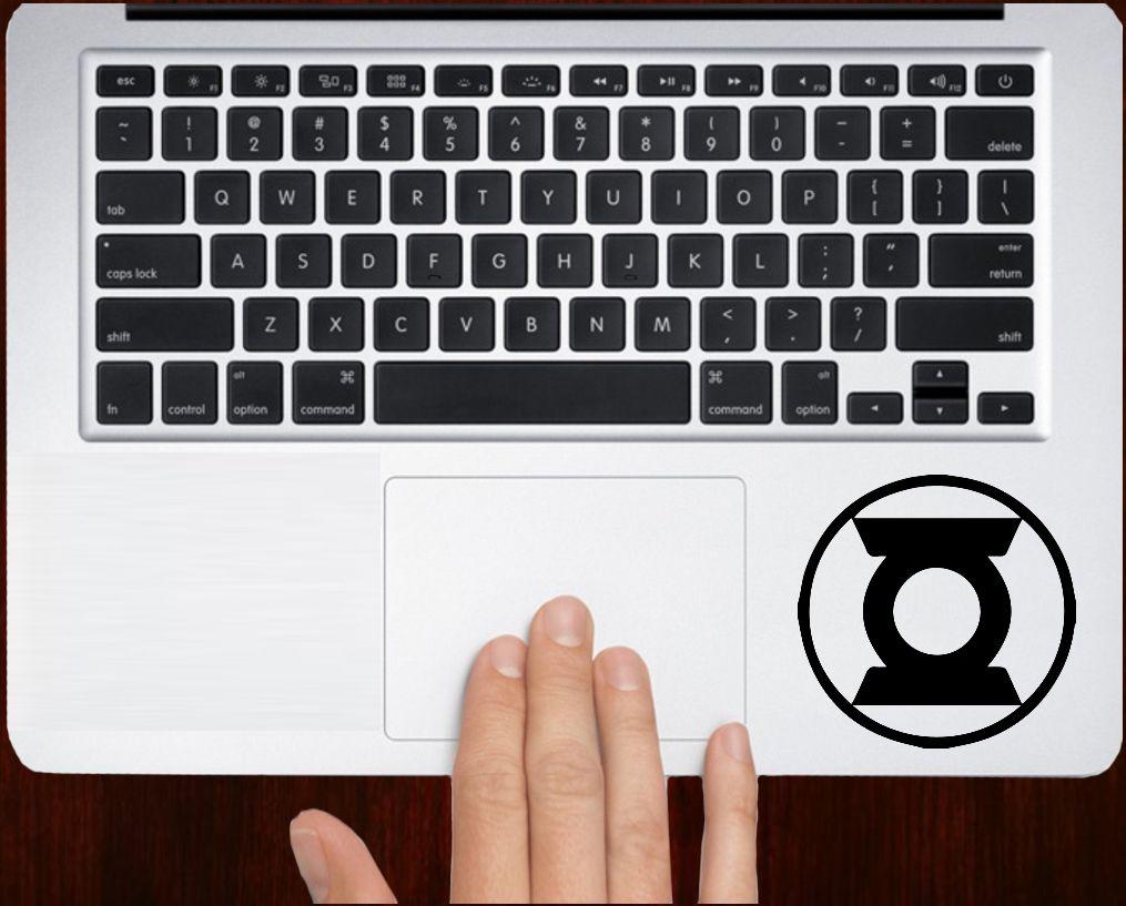 Green lantern symbol Logo Decal Sticker Vinyl For All Laptop Keyboard Design.