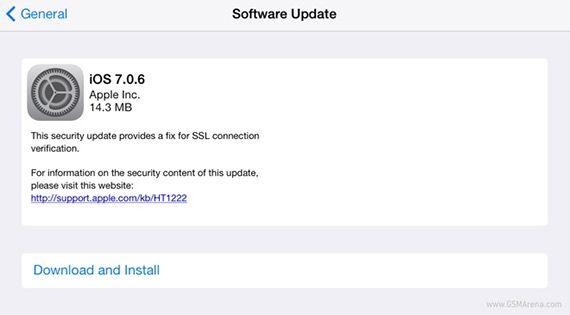 Νέα αναβάθμιση σε iOS 7.0.6 - http://www.greekradar.gr/nea-anavathmisi-se-ios-7-0-6/