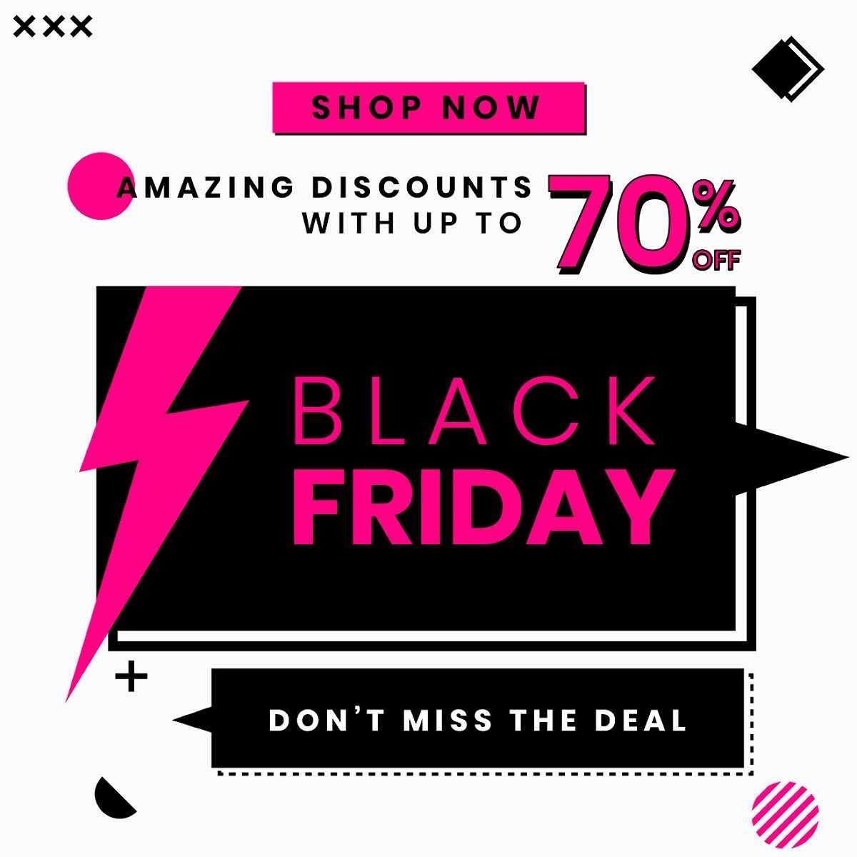 Download Premium Psd Of Bold Text Psd Black Friday 70 Off Promotional Poster Template Free Poster Template Black Friday