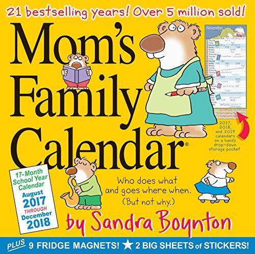 Mom\'s Family Wall Calendar 2018 Mom\' s Family Calendar is the 17 ...