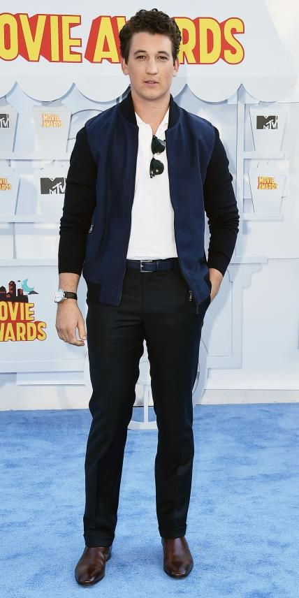 MTV Movie Awards 2015 Red Carpet: All the Details - Miles Teller from #InStyle