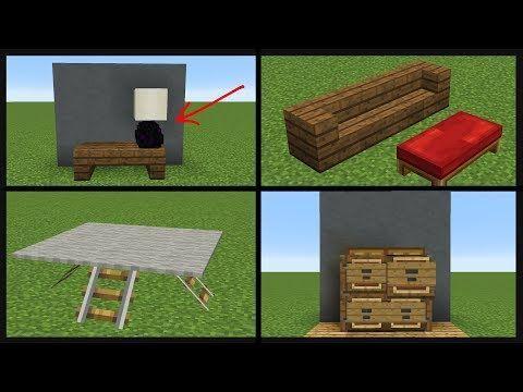 101 MINECRAFT BUILD HACKS - YouTube #minecraftfurniture | Minecraft