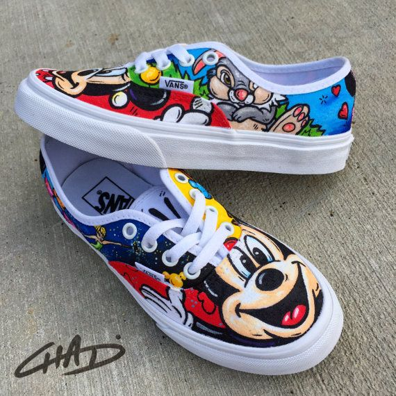 Disney Character Hand Painted Vans Shoes