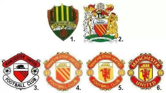 Man Utd Throughout History Escudo Futbol Dibujos