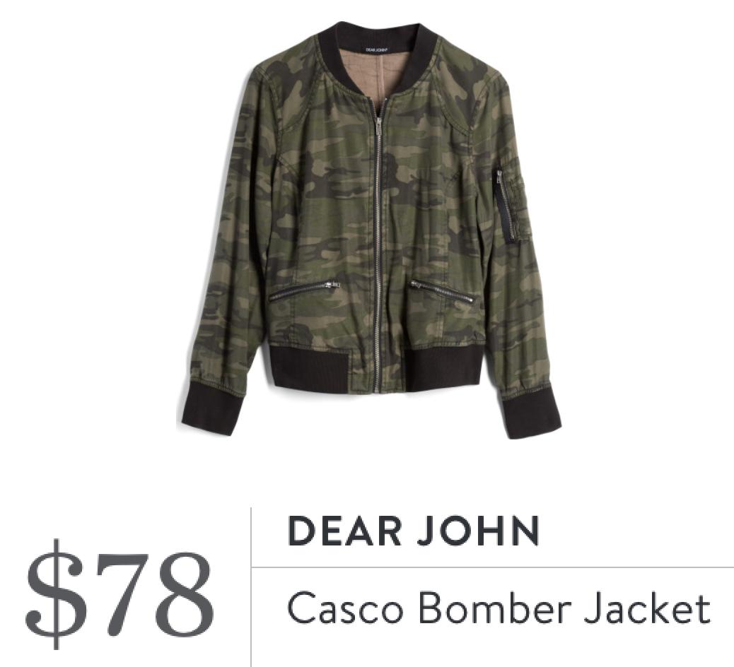 56e5a160 Dear John Casco Bomber Jacket Stitch Fix App, Stitch Fix Jacket, Camo Bomber  Jacket
