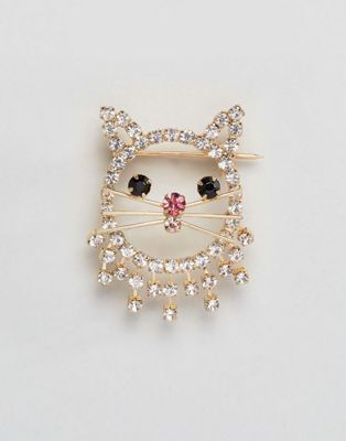 ASOS - Broche chat ornée de cristal