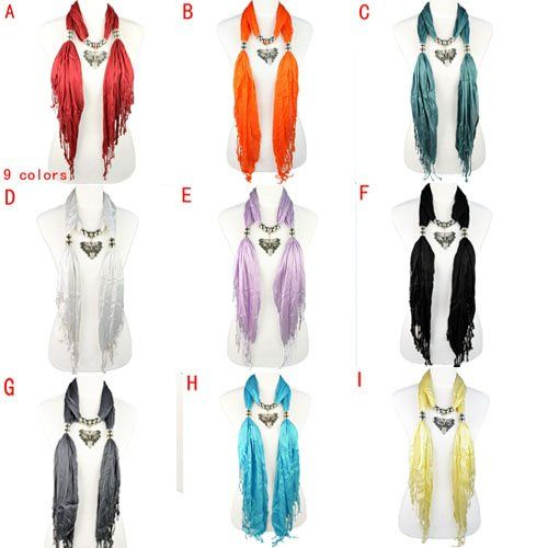 Aliexpress.com : Buy 2012 new design wholesale scarf jewelry, 9 colors available, NL 1829 from Reliable necklace scarf suppliers on Well Done Fashion Jewelry Co.,Ltd. $10.12