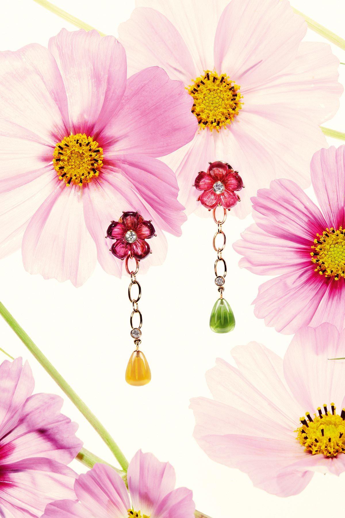 Flowers Bouquet earrings celebrates Ferragamo Flowers fine jewels ...