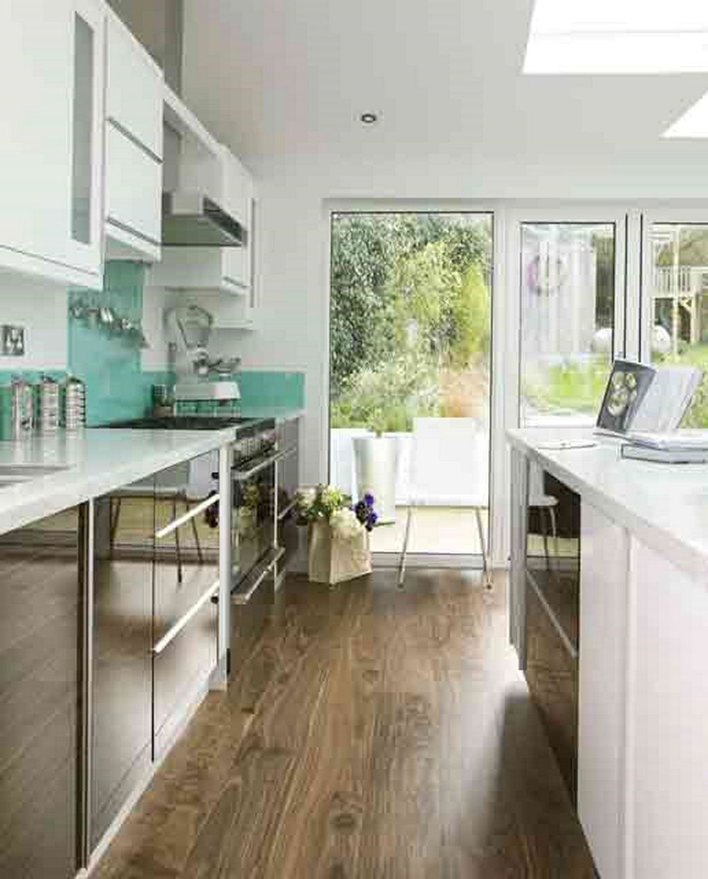 teal remodeling a galley kitchen - google search | dream home