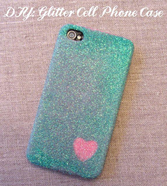 Linen, Lace, & Love: DIY: Glitter Cell Phone Case