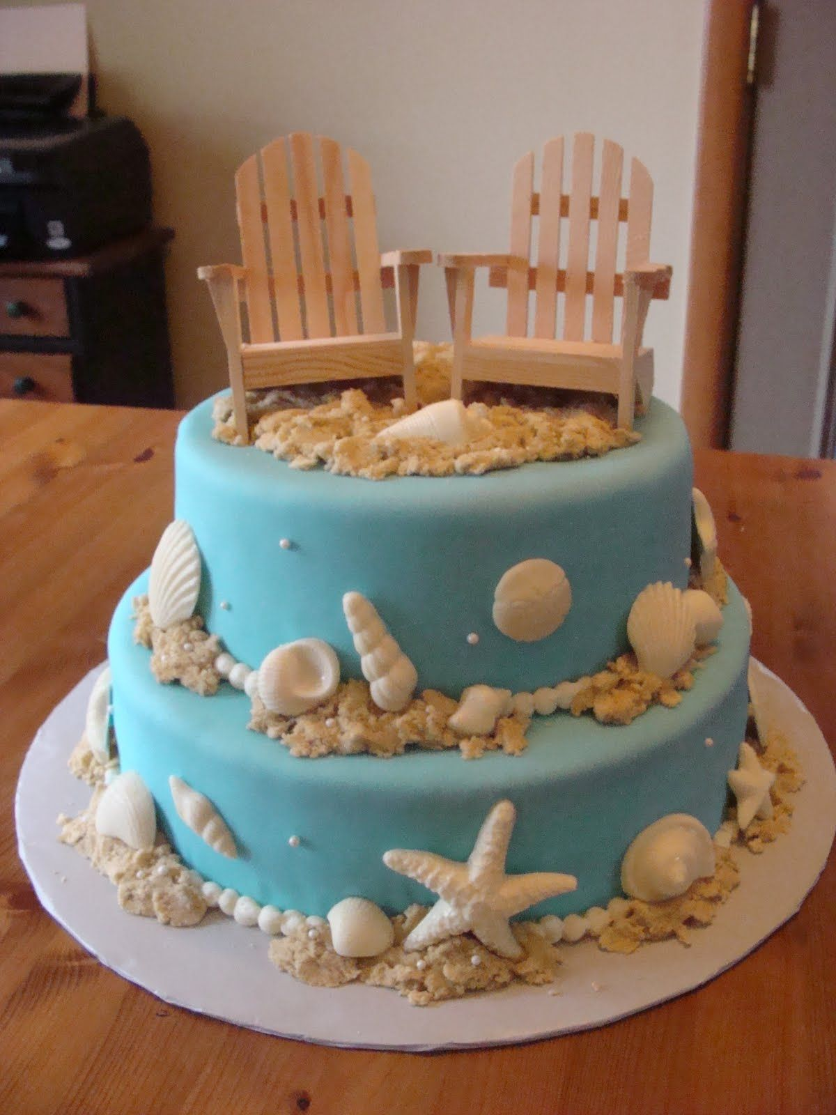 Wedding Shower Cakes Beach Theme Email This Blogthis Share To