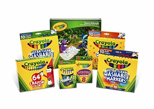Crayola Drawing and Coloring Kit for Kids Art Set Gift Ages 5 6 7 8 ...