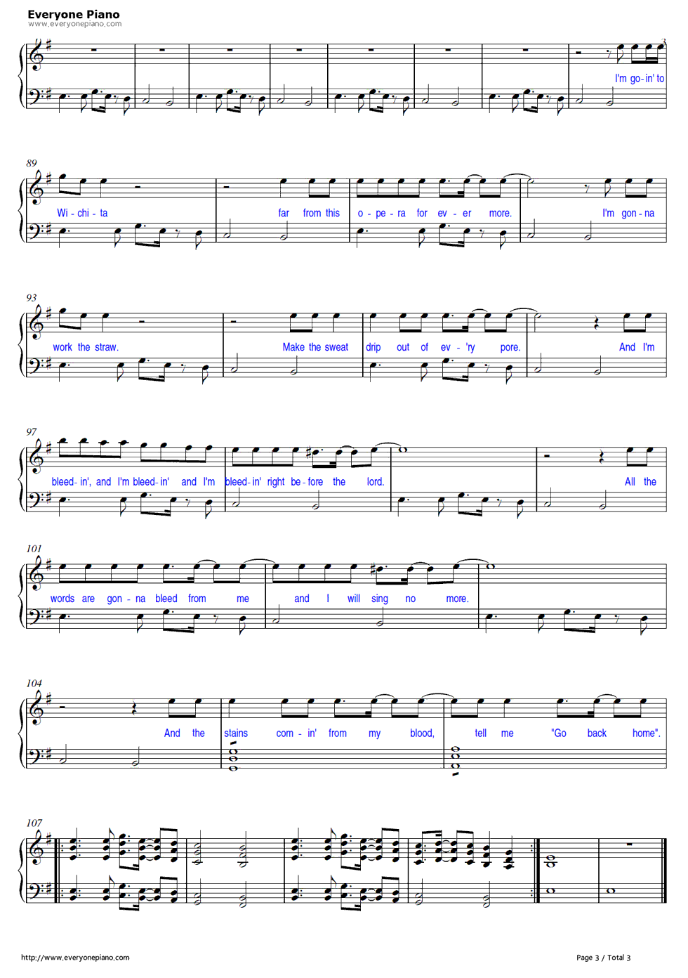 Free seven nation army the white stripes sheet music preview 3 free seven nation army piano sheet music is provided for you seven nation army is the first track on the album elephant by american alternative rock band hexwebz Images