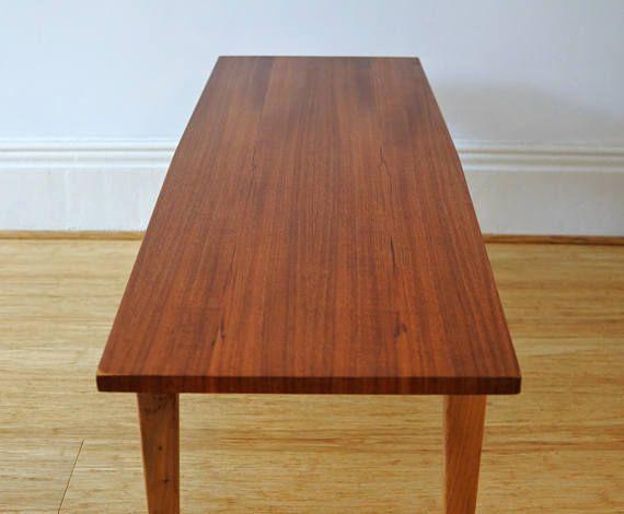 Long Teak Veneer Coffee Table | Coffee table, Furniture ...