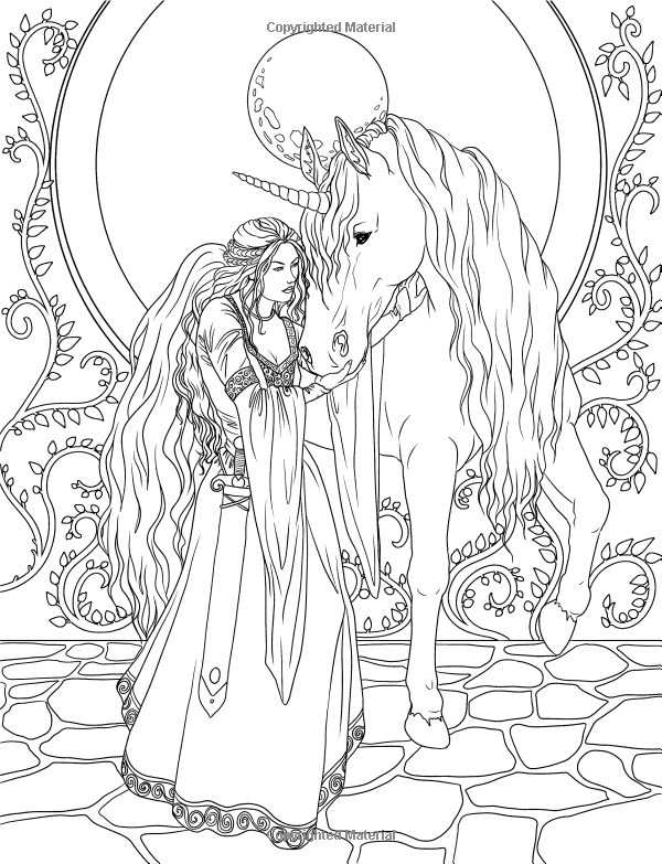Fairy Adult Coloring Page Enchanted Magical Forests Collection