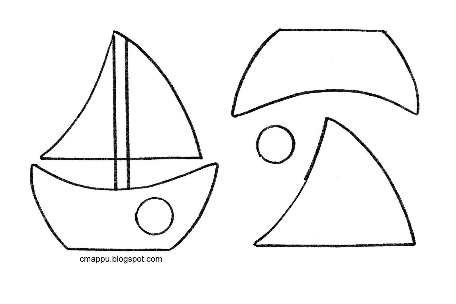 Кораблик из фетра выкройки