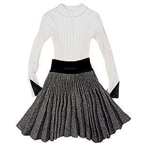 Junior Gaultier Girls Caprice Pleated Skirt Set