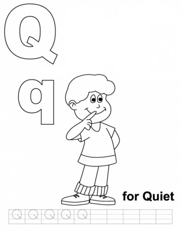 Learning Upper Case Letter Q Coloring Page : Bulk Color di