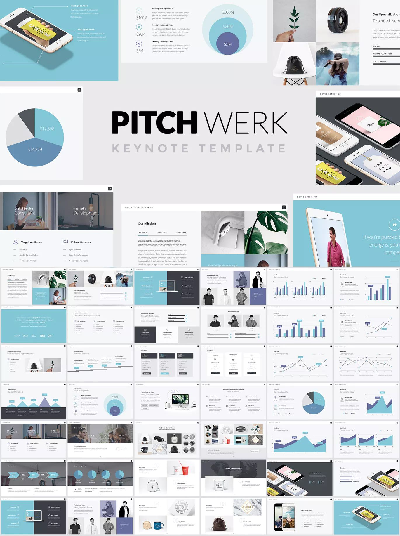 Pitch Werk  Elegant Keynote Pitch Deck Presentation Template