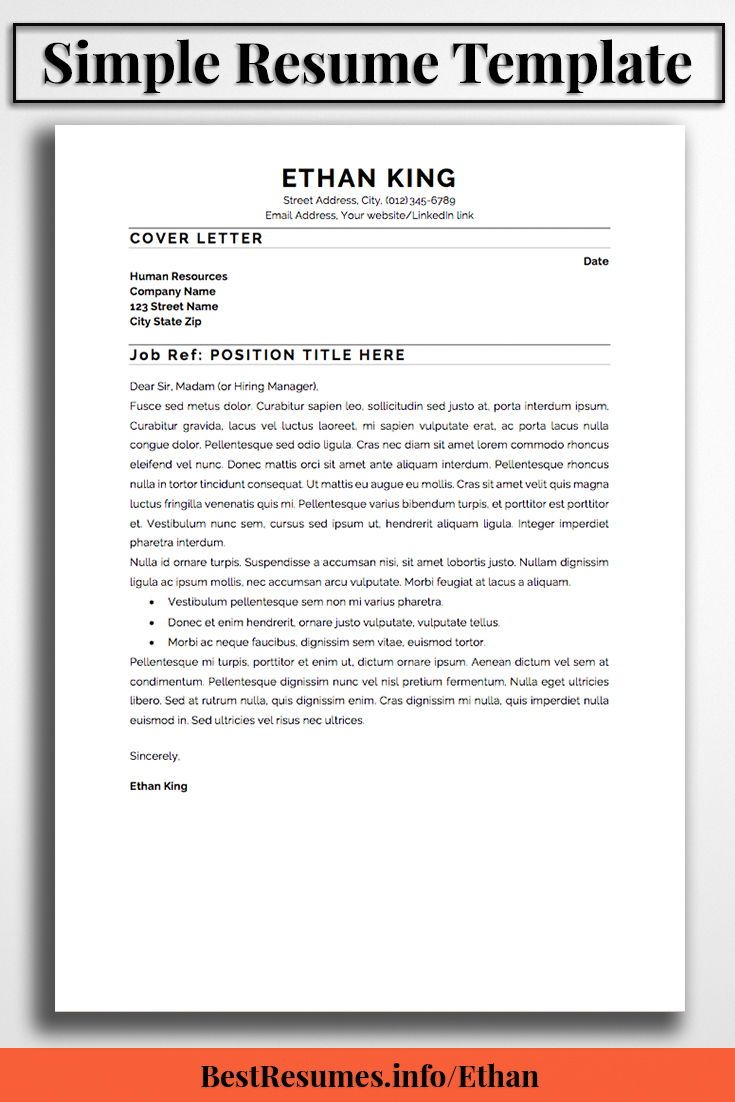 What Is A Good Resume Title Resume Template Ethan King  Simple Resume Template Simple Resume .
