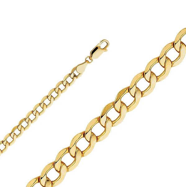 Precious Metal without Stones 164313: 10K Yellow Gold Hollow Cuban Bracelet 5.5Mm 7-9 - Curb Chain Link Men S Women S -> BUY IT NOW ONLY: $133.91 on eBay!