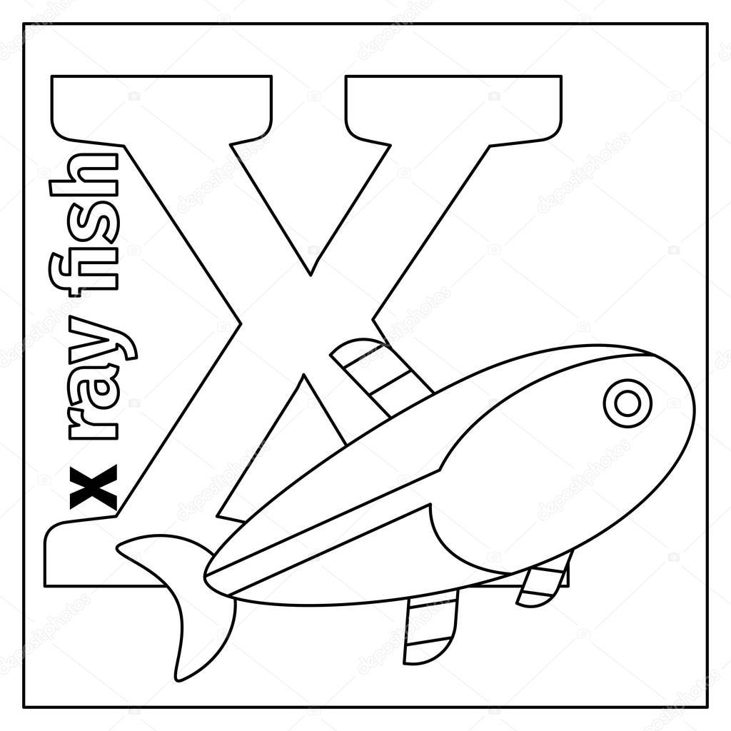 X Ray Fish Coloring Pages