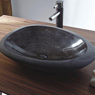 Eviva Shell Stone Oval Vessel Bathroom Sink In 2019 Sink
