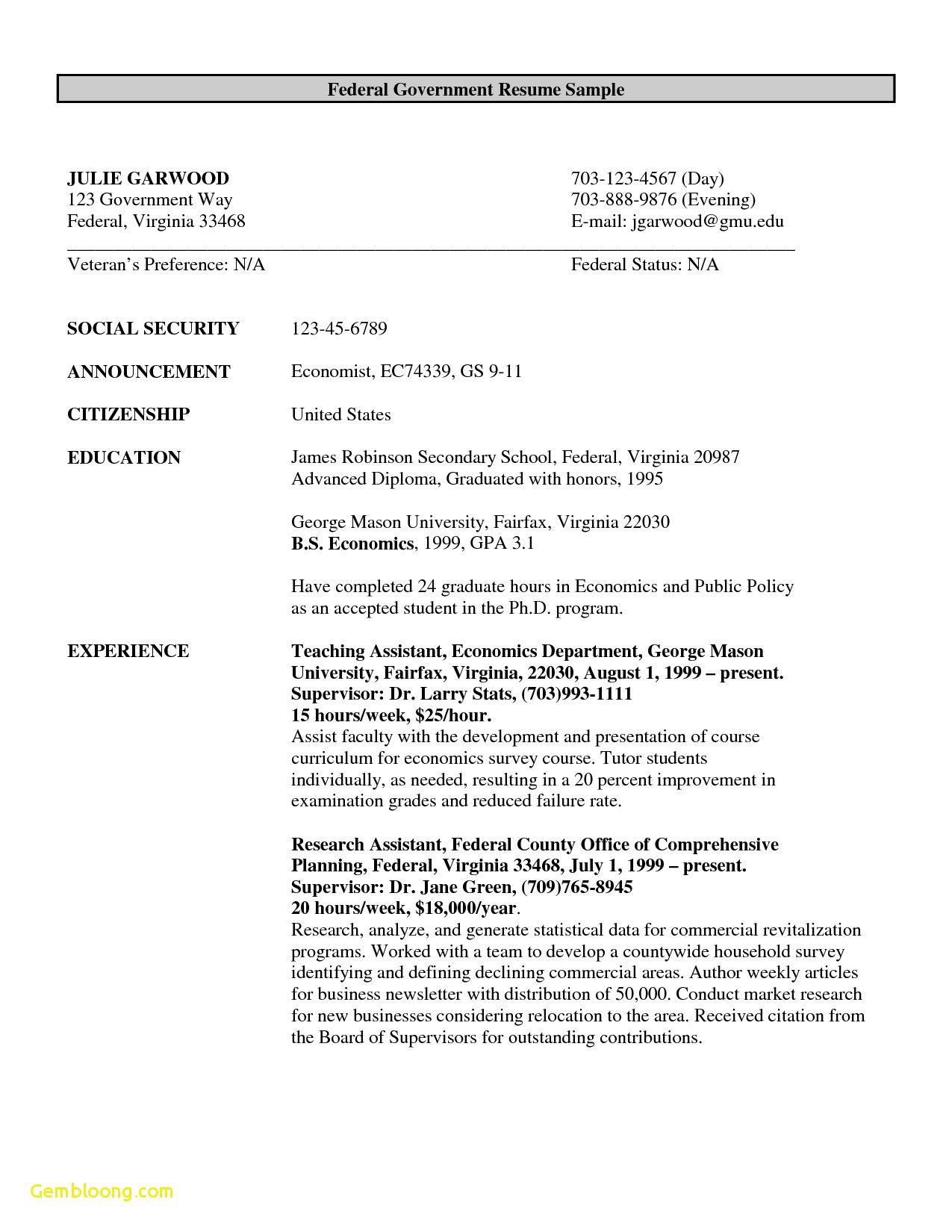 Free Resume Templates Government freeresumetemplates