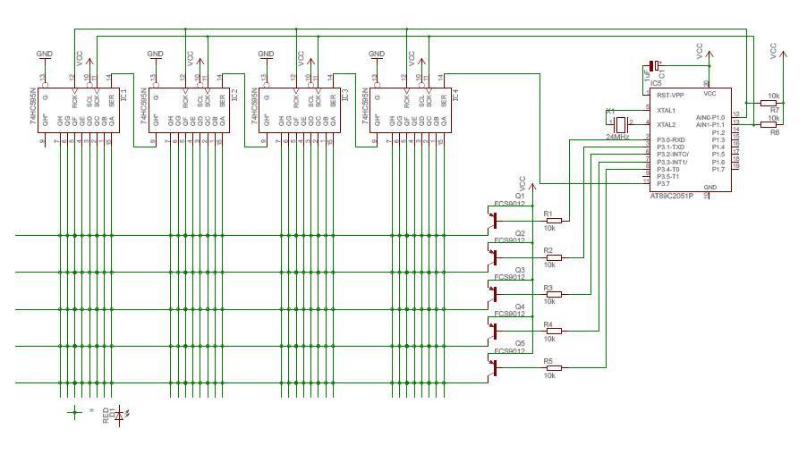8×8 Led Matrix Circuit Diagram Inspirational Myproject