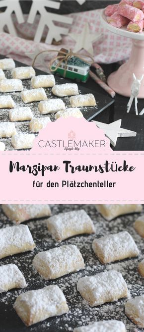 Photo of Dream pieces with marzipan / marzipan pillow / cookie recipe «CASTLEMAKER lifestyle blog