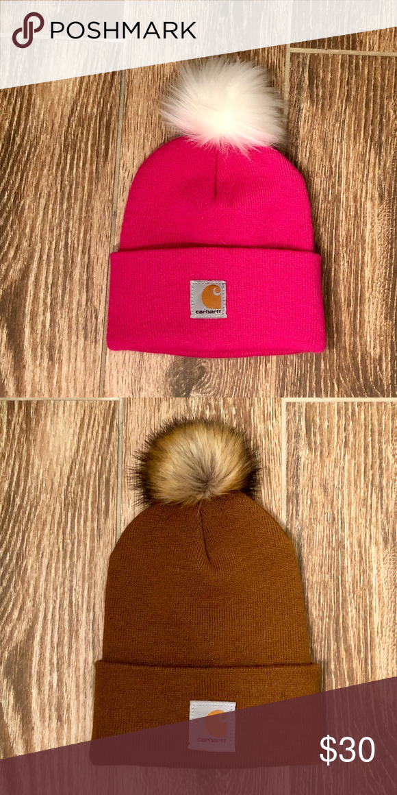 fbdae70c Custom made Pom Pom youth Carhartt beanie New! Custom made Pom Pom beanie  on youth size hats. Both child and adult sizes are available for order!