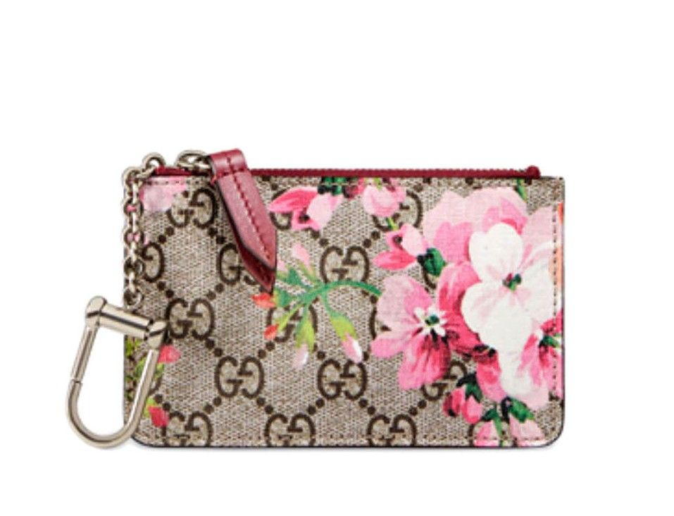 gucci keychain wallet. \u003cp\u003e gucci designer key ring coin pouch: gucci gg bloom supreme canvas keychain wallet l