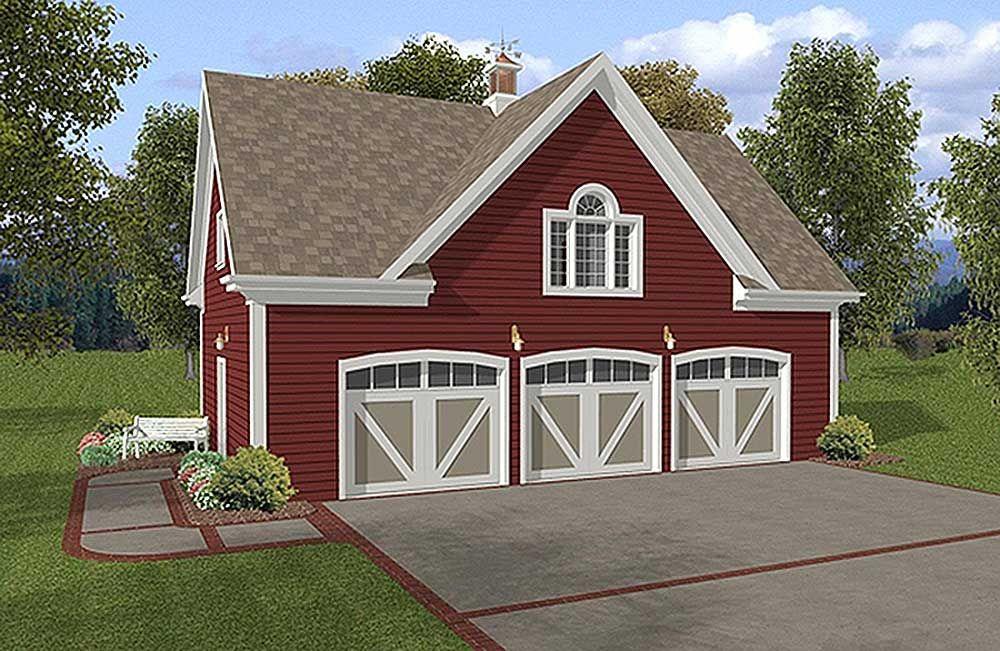 plan 20041ga: 3-car carriage house plan | carriage house plans