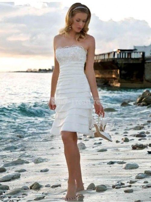 Beach Short White Lace Dress | dress | Pinterest | White lace ...