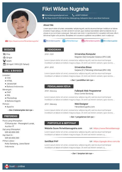Buat Cv Online Gratis Download Pdf Dengan Resume Maker Riwayat Hidup Desain Resume Desain Cv