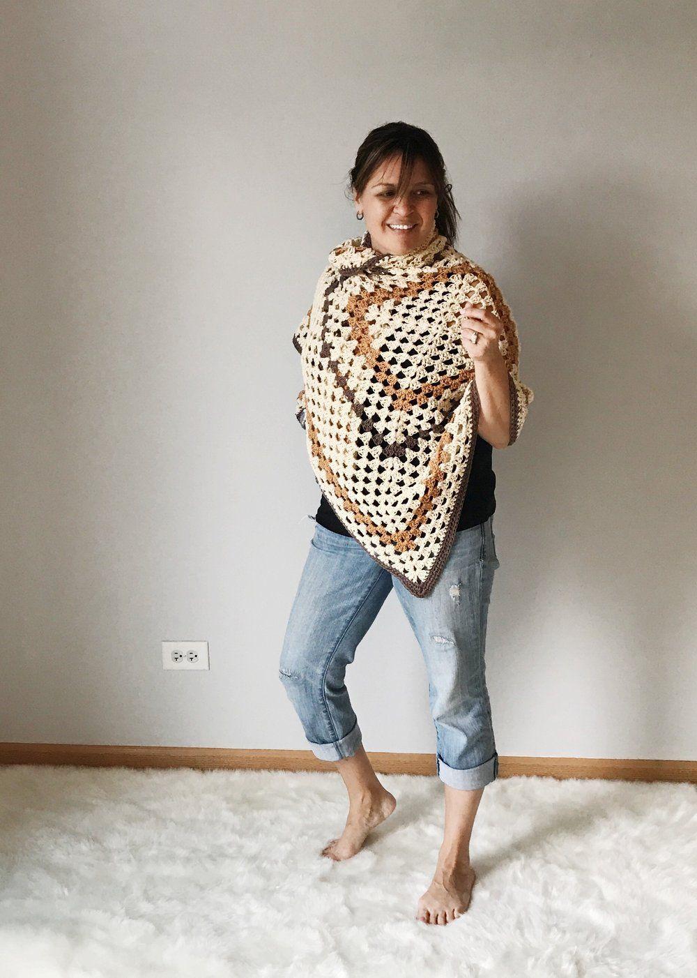 Sedona Granny Stitch Poncho Free Crochet Pattern | Crochet ...