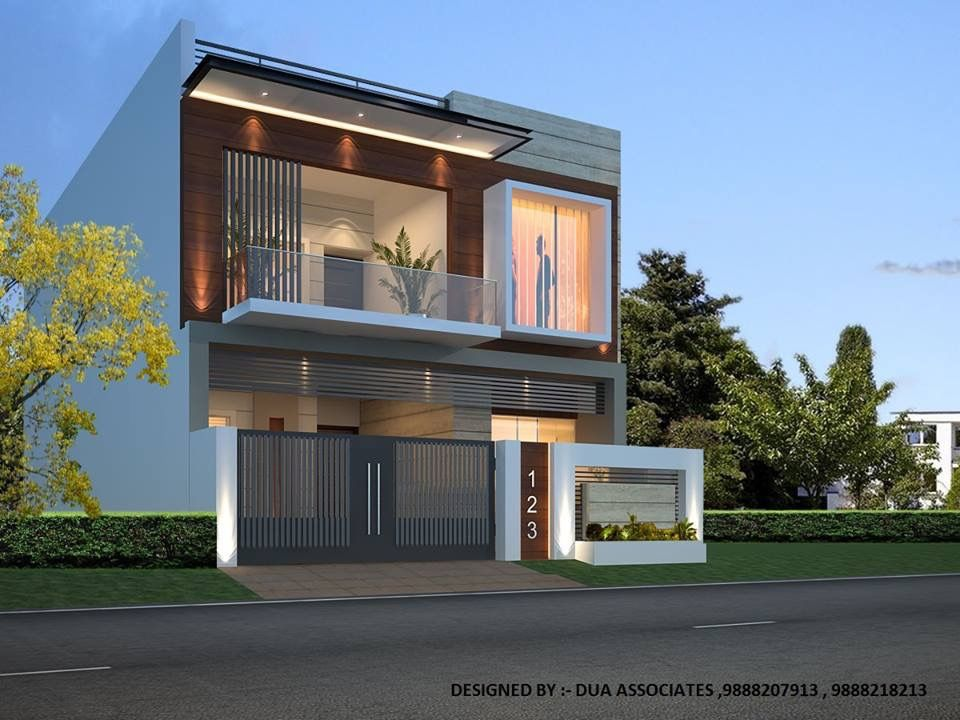 House Exterior Design Modern Elevation Dream Plans Villas Squares Arquitetura Door Entry Siding