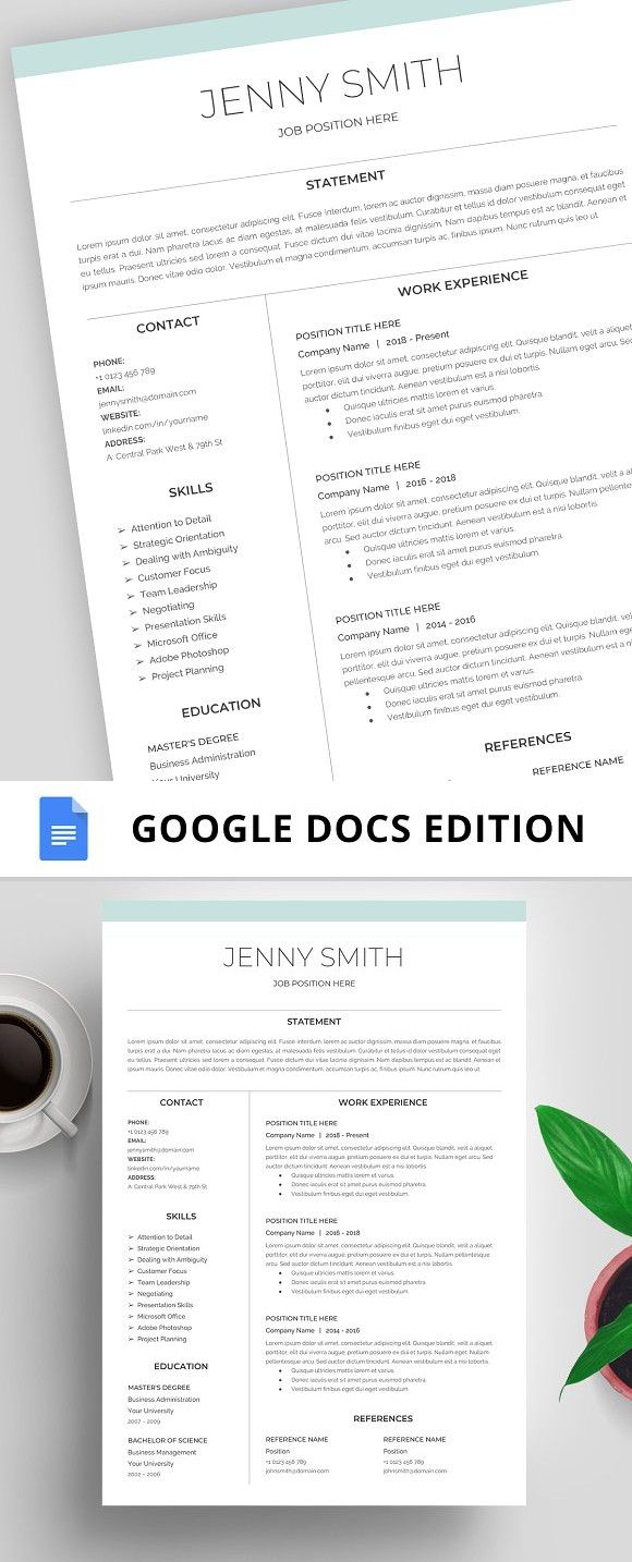 Resume On Google Docs Resume Template Cv Google Docs  Pinterest