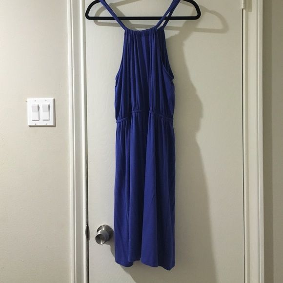 New. LOFT Summer Dress. New with tags. Blue summer dress by Ann Taylor LOFT. Size is small, but runs bug. Fits like a medium. LOFT Dresses Midi