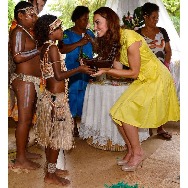 Kate Middleton Wears Yellow Shirt Dress By Jaeger In The Solomon Islands  Capital Honiara 3d1af65fa
