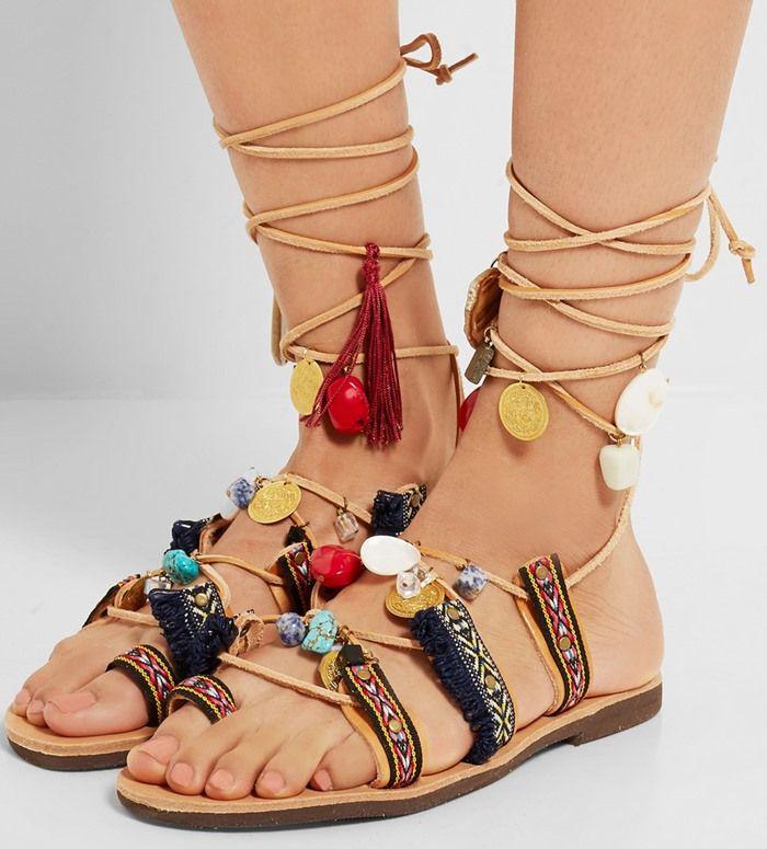 Mabu by Maria BK Beaded flat sandals Sale Shop OtiqNasG