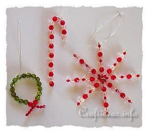 Christmas Craft - Beaded Ornaments Set